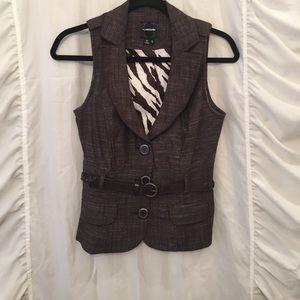 MyMichelle Brown Vest